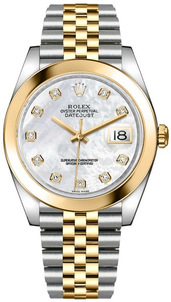 Rolex Datejust 41 Mother of Pearl Diamond Dial Watch 126303-0018
