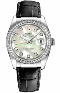 Rolex Datejust 36 Mother of Pearl Dial Watch 116189