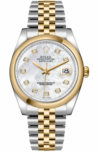 Rolex Datejust 36 Mother of Pearl Diamond Dial Men's Watch 116203