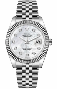 Rolex Datejust 36 Mother of Pearl Diamond Dial Watch 116234