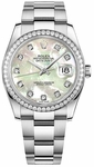 Rolex Datejust 36 Mother of Pearl Diamond Oyster Bracelet Watch 116244