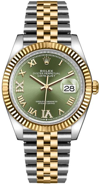 Rolex Datejust 36 Olive Green Dial Midsize Watch 126233
