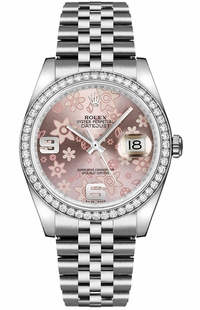 Rolex Datejust 36 Pink Dial Ladies Watch 116244