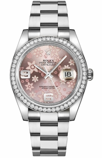 Rolex Datejust 36 Pink Dial Women's Watch 116244