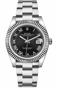 Rolex Datejust 36 Roman Numeral Black Dial Watch 116234