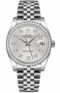 Rolex Datejust 36 Silver Women's Watch 116244