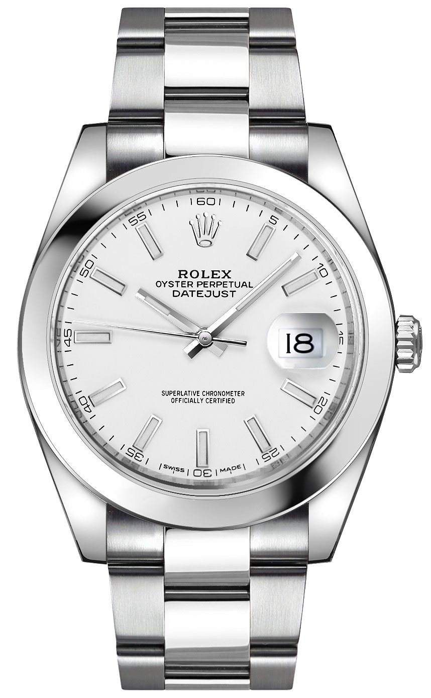 Rolex_Datejust_41_White_Dial_Oyster_Bracelet_Watch_126300