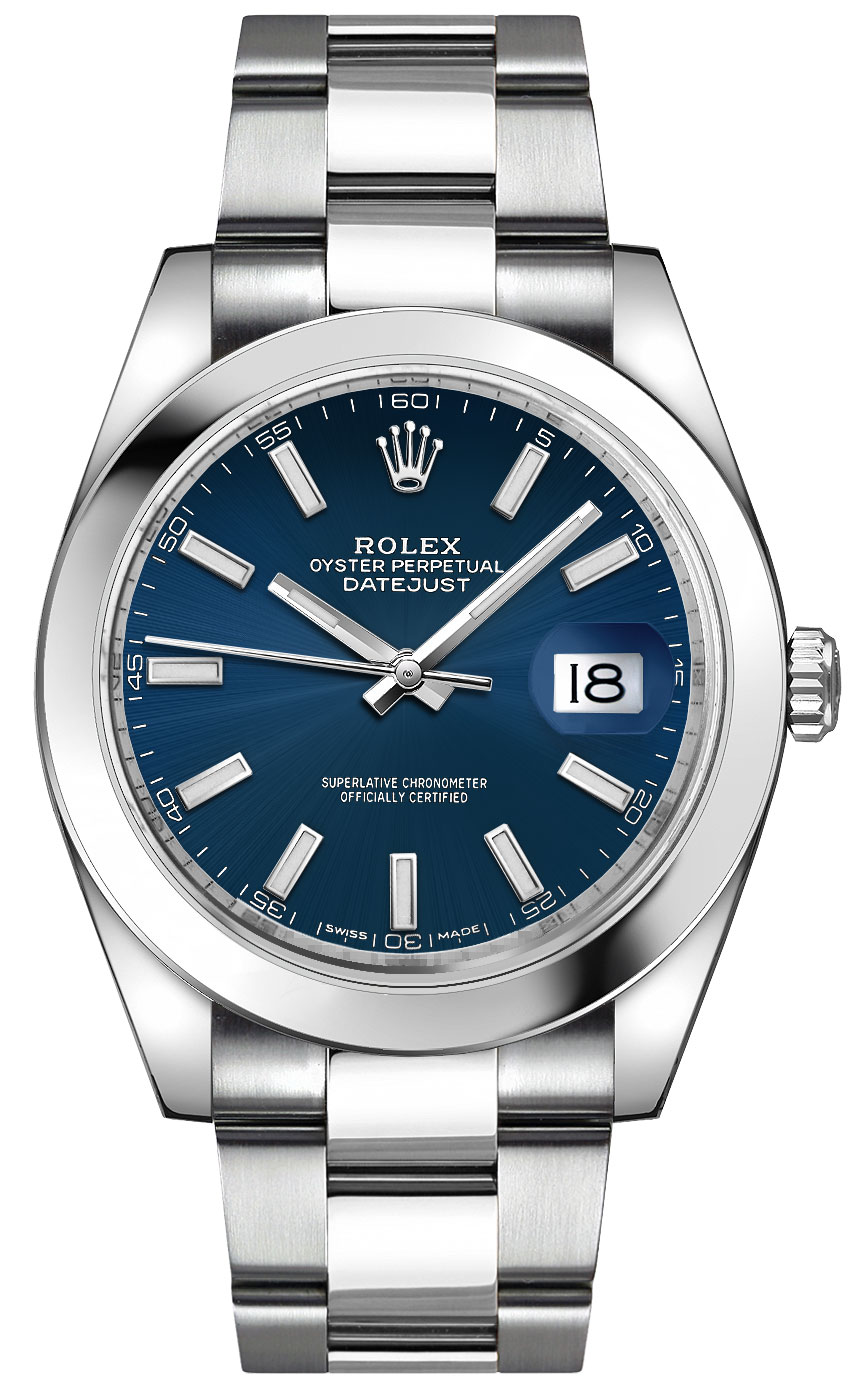Rolex_Datejust_41_Blue_Dial_Mens_Watch_126300