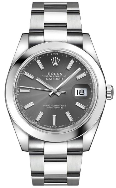 Rolex Datejust 41 Stainless Oystersteel Automatic Chronometer Men's Watch 126300