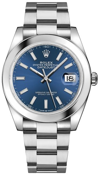 Rolex Datejust 41 Blue Dial Men's Watch 126300-0001