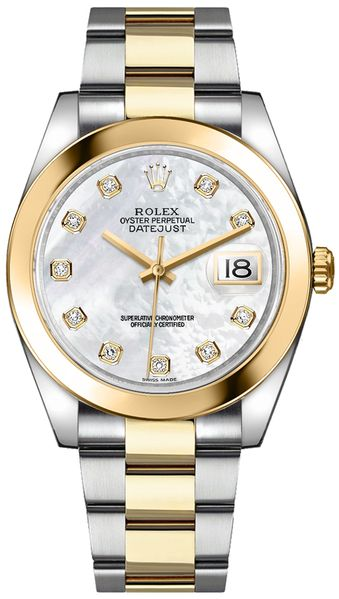 Rolex Datejust 41 Mother of Pearl Diamond Watch 126303-0017
