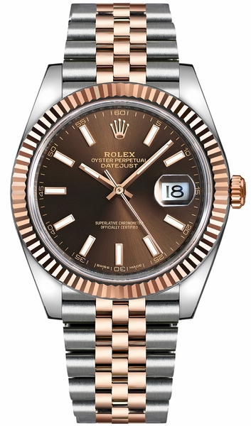 Rolex Datejust 41 Automatic Rose Gold & Steel Watch 126331