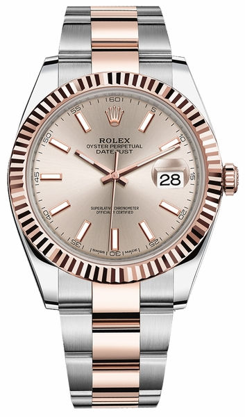 Rolex Datejust 41 Rose Gold & Steel Watch 126331