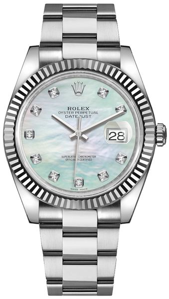 Rolex Datejust 41 Diamond Men's Diamond Watch 126334