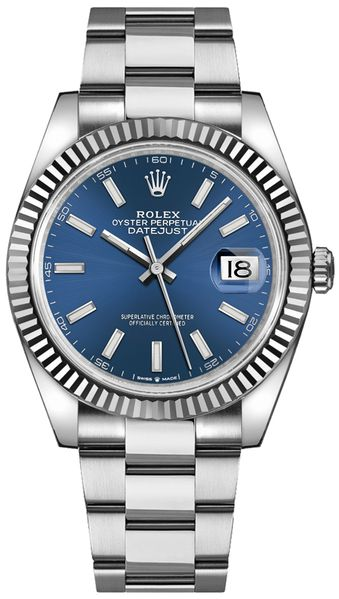 Rolex Datejust 41 Blue Dial Oyster Bracelet Watch 126334-0001