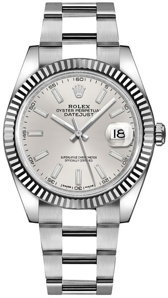 Rolex Datejust 41 Silver Dial Oyster Bracelet Watch 126334-0003