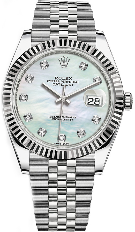 Rolex_Datejust_41_Diamond_Mother_of_Pearl_Men's_Watch_126334