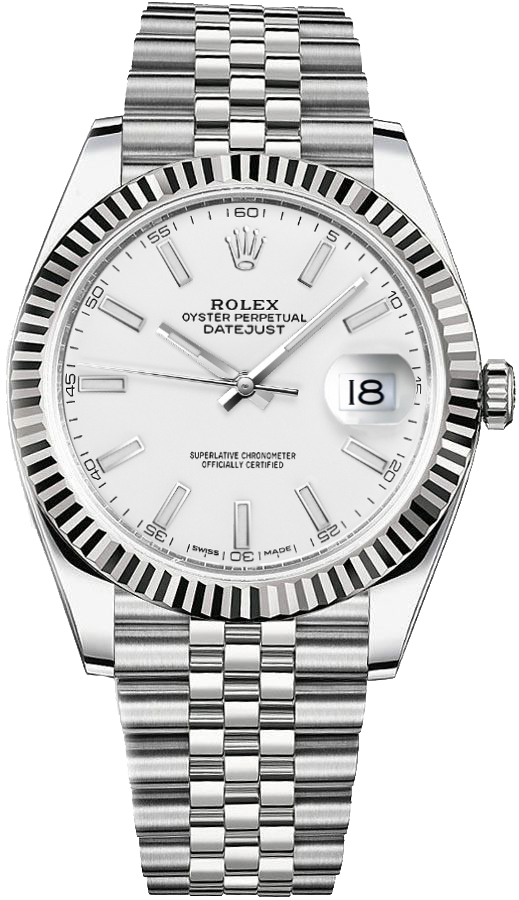 Rolex Datejust 41 White Gold & Steel Watch 126334