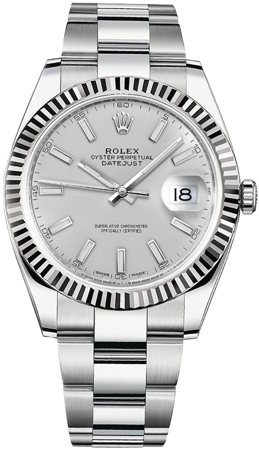 Rolex_Datejust_41_Silver_Dial_Oyster_Bracelet_Watch_126334