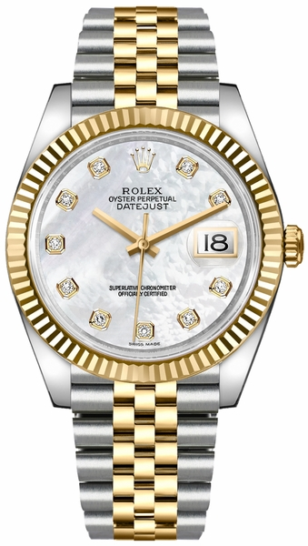 Rolex Datejust 41 Mother of Pearl Diamond Dial Men's Watch 126333-0018