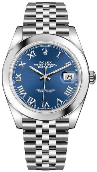 Rolex Datejust 41 Blue Dial Jubilee Bracelet Men's Watch 126300-0018