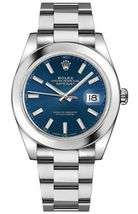 Rolex Datejust 41 Blue Dial Men's Watch 126300