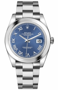 Rolex Datejust 41 Blue Roman Numeral Dial Men's Watch 126300
