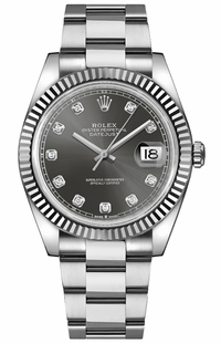 Rolex Datejust 41 Diamond Dial Men's Watch 126334-0005