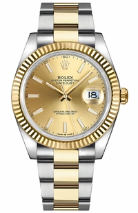 Rolex Datejust 41 Fluted Bezel Gold & Steel Watch 126333-0009