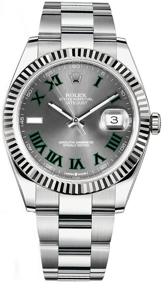 Rolex Datejust 41 Grey Dial Men's Watch 126334