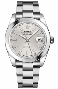 Rolex Datejust 41 Men's Silver Dial Watch 126300