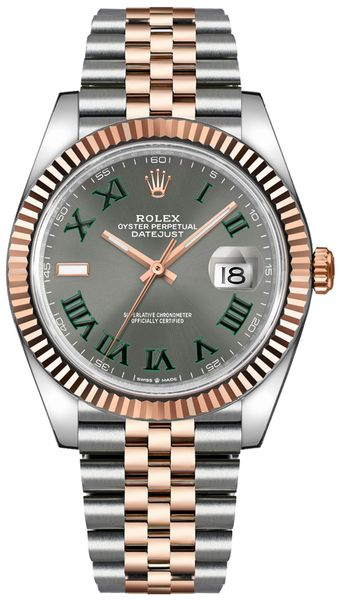 Rolex Datejust 41 Green Roman Numeral Men's Watch 126331-0016