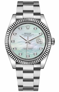 Rolex Datejust 41 Mother of Pearl Diamond Dial Men's Watch 126334