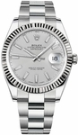 Rolex Datejust 41 Silver Dial Oyster Bracelet Watch 126334