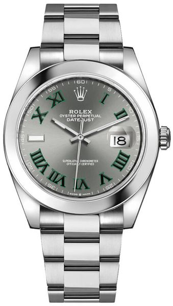 Rolex Datejust 41 Slate Grey Dial Oyster Bracelet Men's Watch 126300