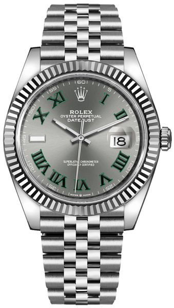 Rolex Datejust 41 Slate Grey Men's Watch 126334