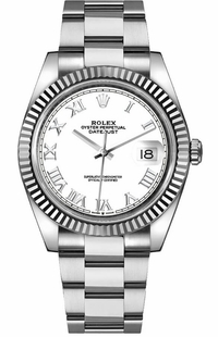 Rolex Datejust 41 White Dial Oyster Bracelet Men's Watch 126334