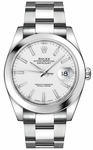 Rolex Datejust 41 White Dial Oyster Bracelet Watch 126300