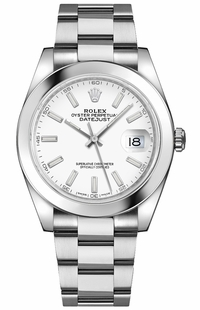 Rolex Datejust 41 White Dial Oyster Bracelet Watch 126300-0005
