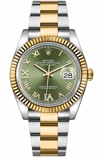 Rolex Datejust Green Dial Women's Watch 126233