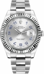 Rolex Datejust II 41 White Gold Fluted Bezel Men's Watch 116334