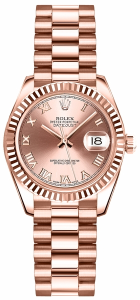 Rolex Lady-Datejust 26 Rose Gold Watch 179175
