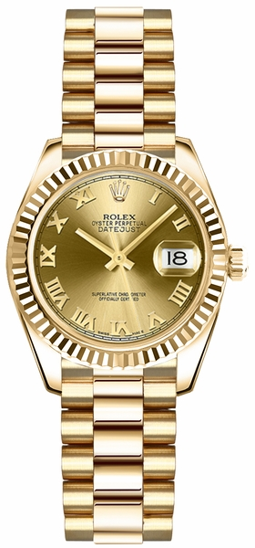 Rolex Lady-Datejust 26 Solid Gold Watch 179178