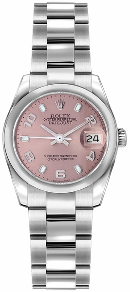 Rolex Lady-Datejust 26 Pink Dial Oyster Bracelet Watch 179160