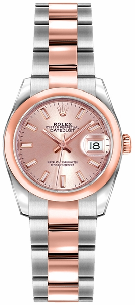 Rolex Lady-Datejust 26 Pink Dial Watch 179161