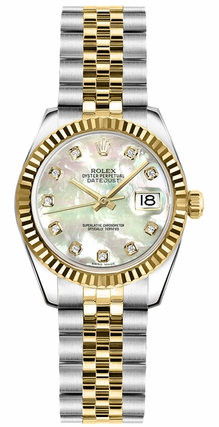 Rolex Lady-Datejust 26 Gold & Steel Watch 179173