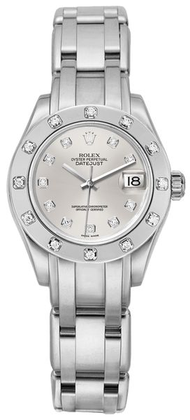 Rolex Pearlmaster Silver Dial Women's Watch 80319