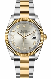Rolex Datejust Silver Roman Numeral Women's Watch 126233