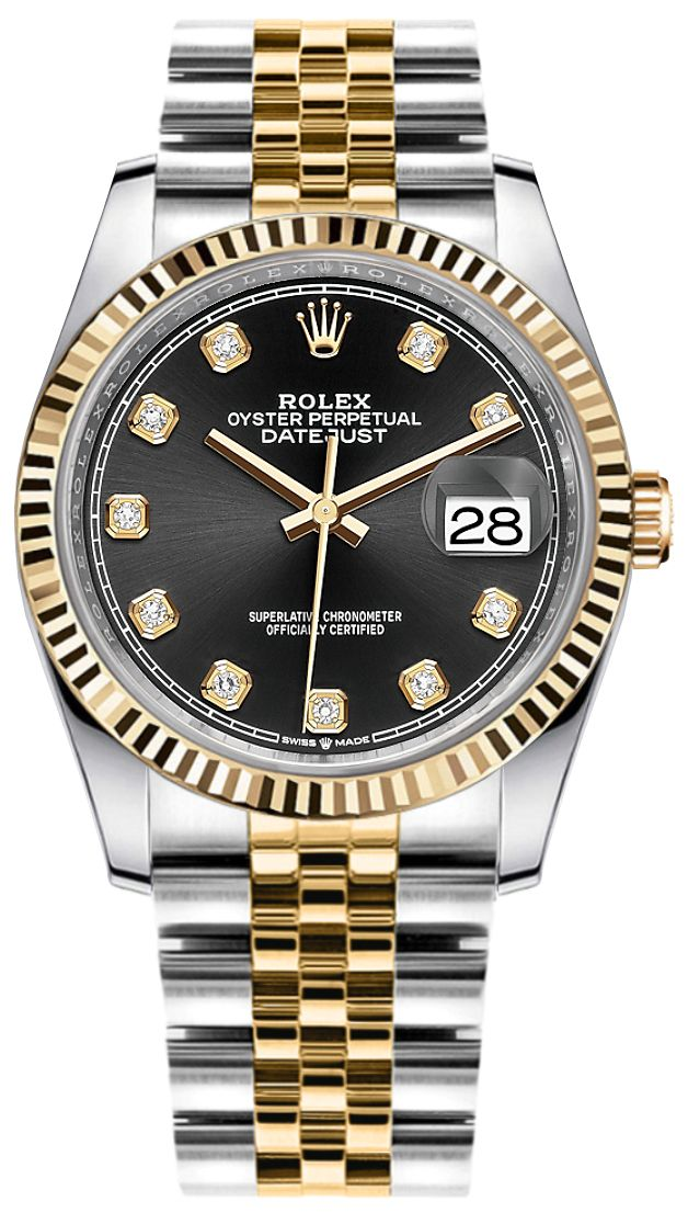 Rolex Datejust Black Diamond Women\u0027s Watch 126233