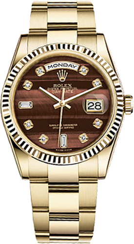 118238 blsdo rolex day date 36 diamond dial watch for Rolex day date 36